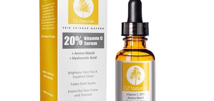 OZ Naturals - THE BEST Vitamin C Serum For Your Face - Organic Vitamin C + Amino + Hyaluronic Acid Serum-